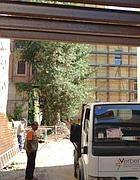 Il cantiere in via Marco Aurelio (Zanini)