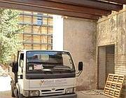 Lavori nell'ex Casa del Popolo al Celio (Zanini)