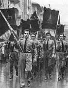 Militantio del Msi in divisa la funerale di Graziania
