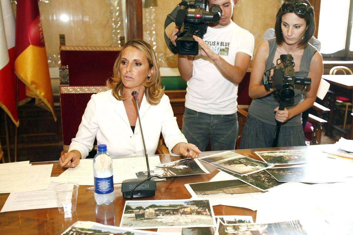 Sveva Belviso durante la conferenza stampa (foto Omniroma)