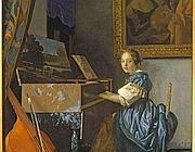 Vermeer, «Ragazza seduta alla spinetta» (Ansa)
