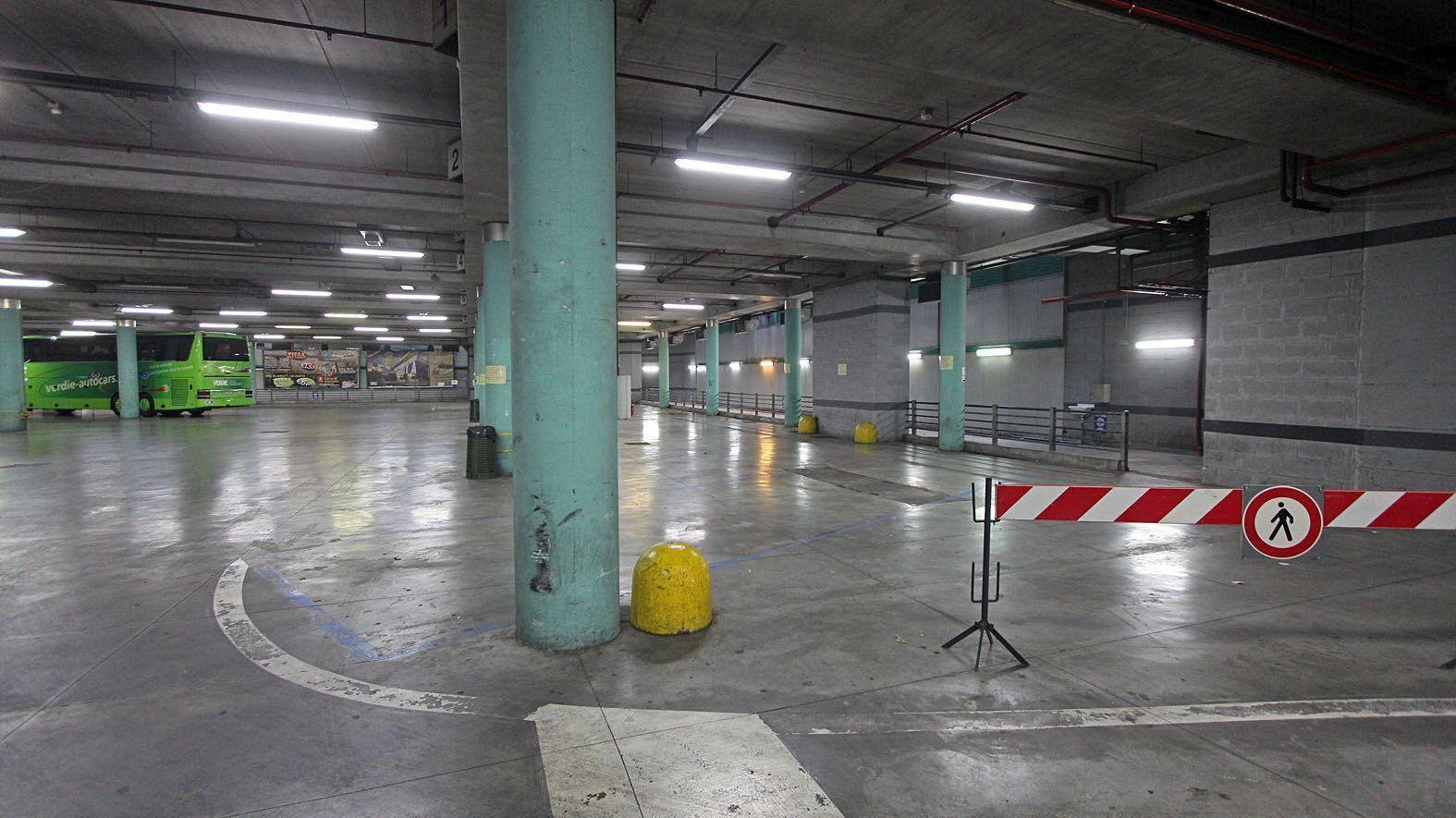 Il parcheggio del Gianicolo quasi vuoto (foto Jpeg)