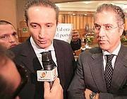 Il presidente della Provincia di Latina, Armando Cusani (a sinistra) e l'ex della Provincia di Frosinone, Francesco Scalia (a destra) (Jpeg)
