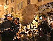 Controlli notturni dei vigili in Campo de' Fiori (Jpeg)