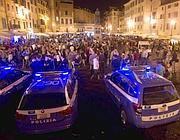 Pattuglie della Polizia in Campo de' Fiori (Ansa)
