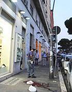 Il luogo della tragedia in via Appia (foto Proto)
