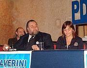Un'immagine di Fiorito con Renata Polverini (Jpag)