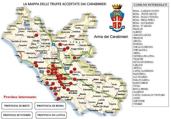 Cartina Del Lazio Con Tutti I Comuni.Preso Truffatore Seriale 23 Colpi In Tutto Il Lazio Corriere Roma