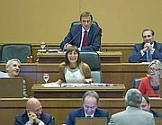 Un momento del consiglio regionale del Lazio (Ansa)