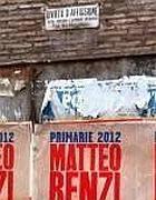 Un manifesto di Renzi sotto il divieto di affissione