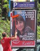 I manifesti della Polverini comparsi marted� mattina a Roma (Jpeg)