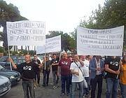 Manifestanti in corteo giovedì pomeriggio (Jpeg)