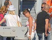 Renata Polverini sulla motovedetta della Gdf nella foto pubblicata da L'Espresso