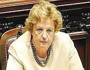 Il ministro dell'Interno Annamaria Cancellieri