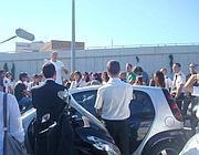 Un momento della protesta (Costantini)