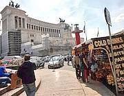 Un camion bar a Piazza Venezia