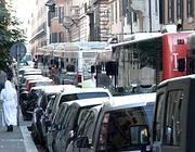 Via di Ripetta bloccata  da un ingorgo (foto lettore)