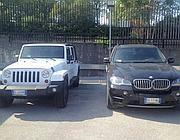 Due delle auto sequestrate (Ansa)