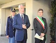 Il questore Fulvio Della Rocca con il sindaco Gianni Alemanno (Proto)