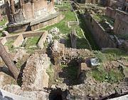 L'area degli scavi condotti negli ultimi sei anni a Largo Argentina (Jpeg)