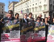 Alcuni degli organizzatori del «No Monti Day» (Imago)