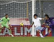 Il gol di Toni (Ap)