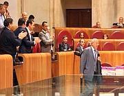 L'addio di Francesco Storace al Consiglio comunale (Eidon)
