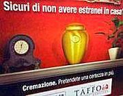 Una pubblicità per la cremazione