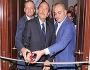 Maruccio con Stefano Pedica (a sinistra) e Felice Belisario (al centro) Imagoeconomica