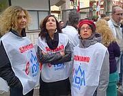 Una protesta dei lavoratori dell'Idi a Roma (Jpeg)