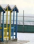 Neve a Ostia nel febbraio 2012 (Ansa)