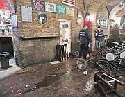 Il pub devastato a Campo de' Fiori mercoledì notte