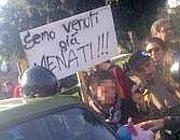 Uno striscione degli studenti (Jpeg)