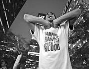 Un protagonista di «Occupy Wall Street» (foto  Yelena Futeran)