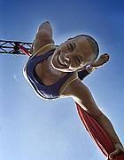 Un'atleta del Progetto Mondiali antirazzismo (foto Lencioni)