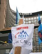 La protesta dei dipendenti Idi alla Regione Lazio