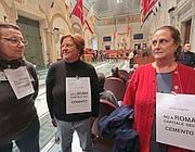 La protesta in Aula (Foto Jpeg)