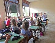 Lezione in classe al liceo romano Virgilio (Jpeg)