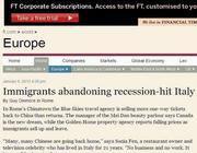 L'articolo del Financial Times che denuncia la fuga dei cinesi dall'Italia