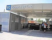 L'ingresso della Metro B1 alla fermata Conca d'Oro (Proto)