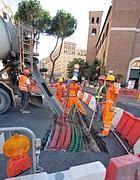 Lavori su viale Libia (foto Jpeg)