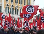 Una manifestazione di CasaPound a Roma (Corbis)