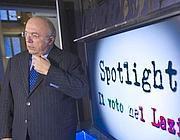 Francesco Storace negli studi di Corriere.Tv (Jpeg)