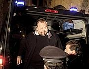 Fiorito al suo arrivo ad Anagni per scontare gli arresti domicicliari (Ansa)