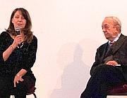 Il professor De Mauro sul palco del Teatro Due
