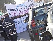 Lavoratori dell'Idi bloccano l'Aurelia (Jpeg)