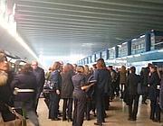 Il fumo al Terminal 3 di Fiumicino (Costantini)