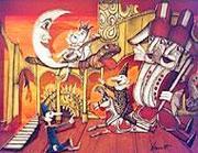 Pinocchio in un'illustrazione di Emanuele Luzzati