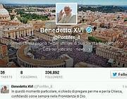 Il messaggio di Benedetto XVI su Twitter