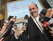 Zingaretti sorride dopo la vittoria nel Lazio (Jpeg)